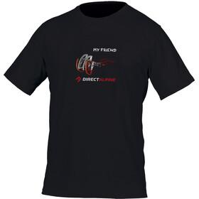 Directalpine Crack t-shirt Heren Your Friend DA zwart